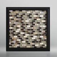 Dark Mother of Pearl and Glass Mosaic for Showers and Kitchen