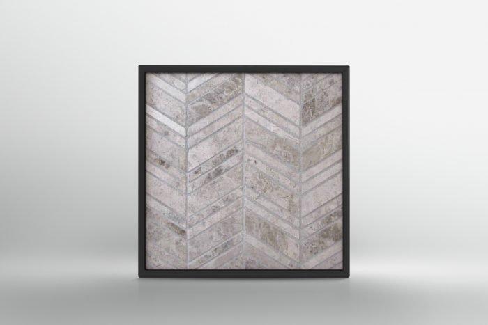 Grey Chevron Mosaic
