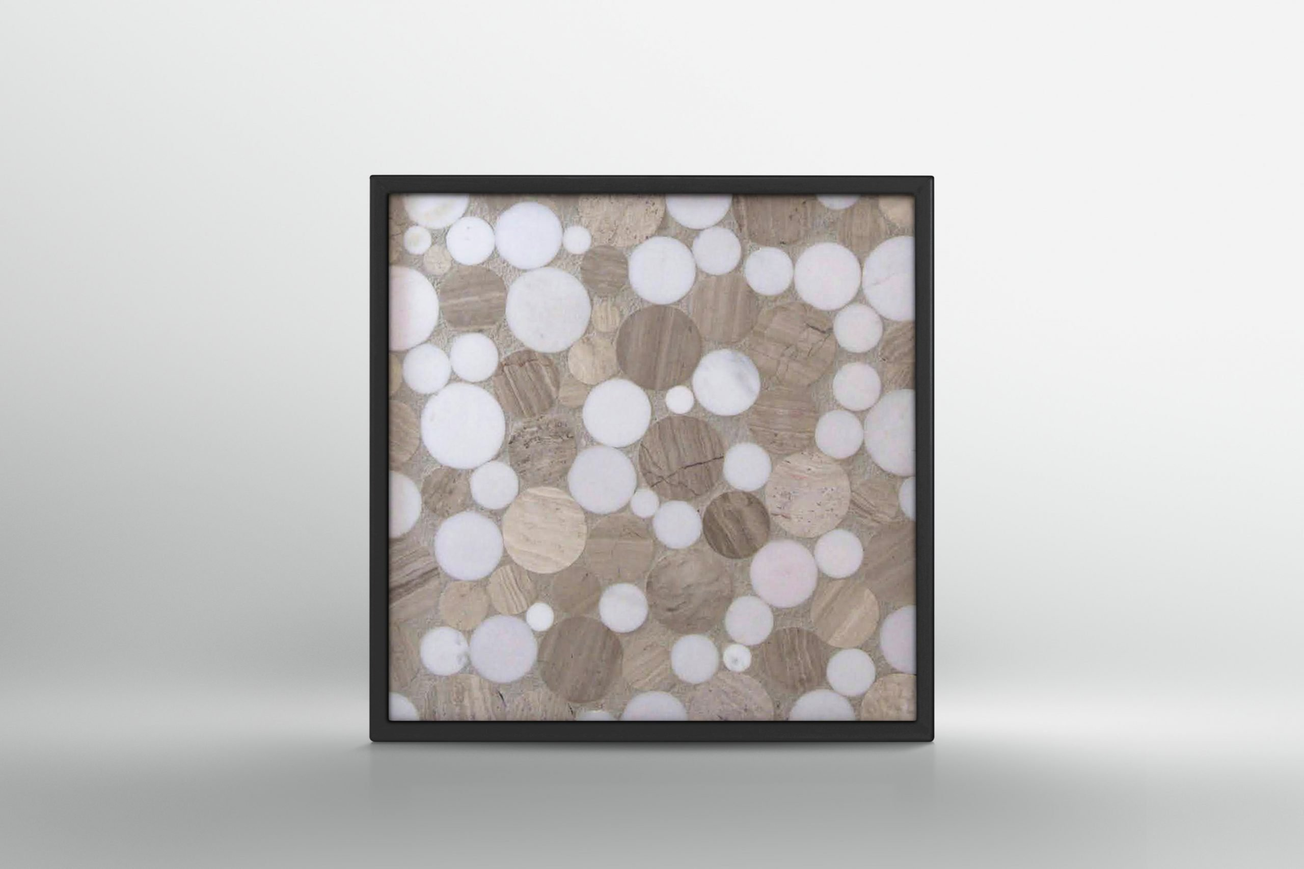 White Beige Bubble Mosaic