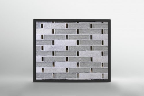 White Stone and Glass Mosaic