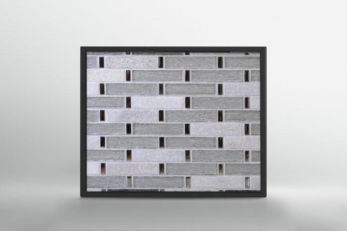 White Stone and Glass Mosaic